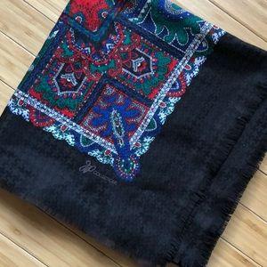 Vintage Red Green Black Blue White Blanket Scarf